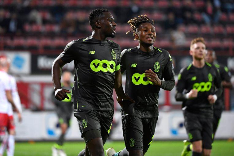 Mpoku en Bastien. Standard kon nog eens winnen.