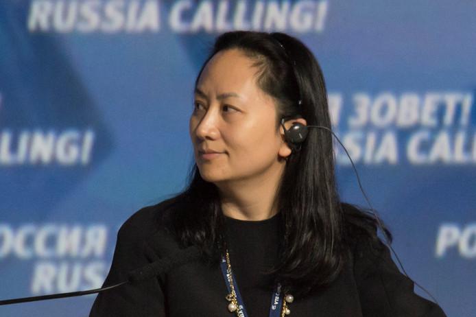 Meng Wanzhou, de financieel directeur van Huawei die woensdag werd gearresteerd in Canada.