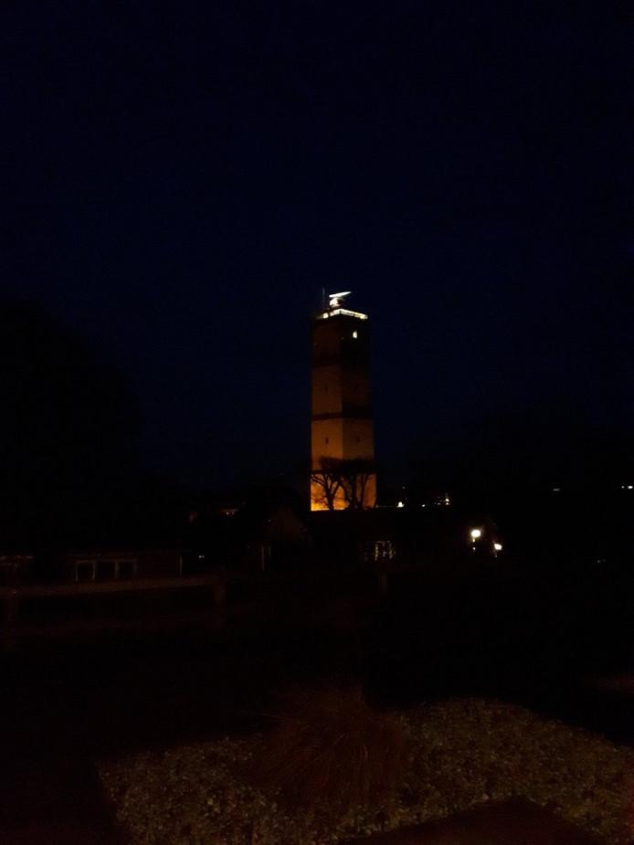 Het licht van de Brandaris ging gisteren niet aan toen het donker werd.