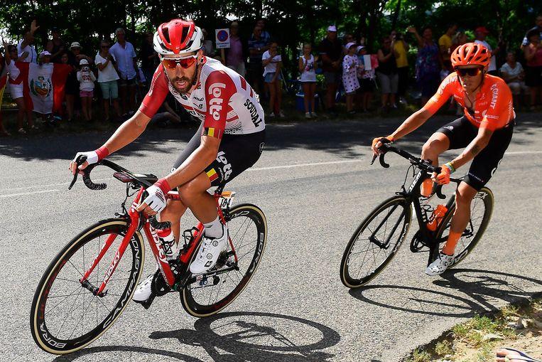 De Marchi trok in rit 8 naar Saint-Etienne samen met latere winnaar Thomas De Gendt in de aanval.