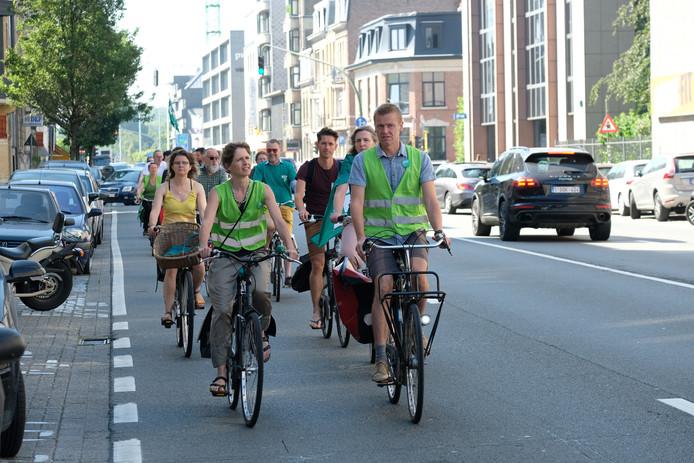 Groen voerde vorig jaar nog actie in de Generaal Lemanstraat tegen het drukke verkeer.