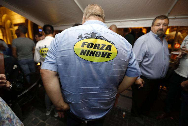 Guy D'Haeseleer van Forza Ninove na zijn overwinning op 14 oktober.