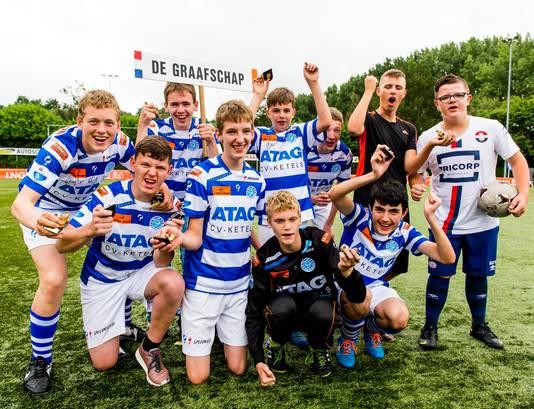 Groepsfoto van het team De Graafschap.