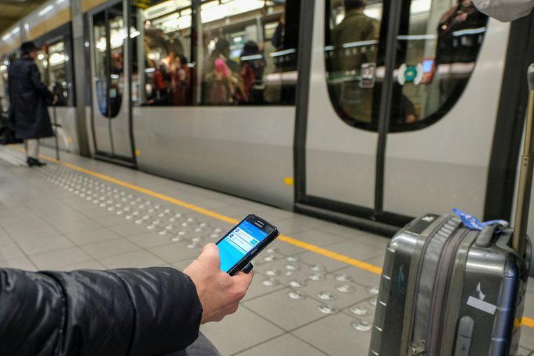 Metro Brussel Illustratie.