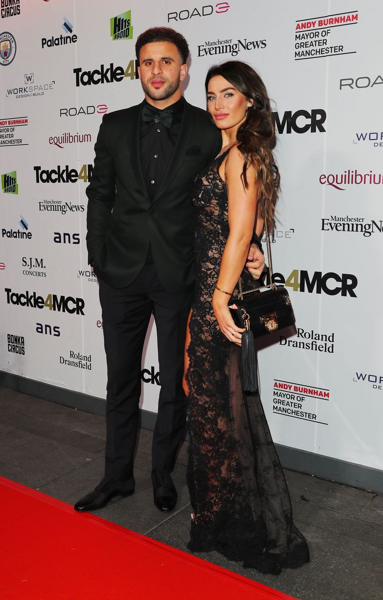Vincent Kompany Tackle4MCR Gala Fundraising Testimonial Dinner - Manchester. Kyle Walker (left) and wife attending the Vincent Kompany Tackle4MCR Gala Fundraising Testimonial Dinner at the Hilton Hotel in Manchester on February 4, 2019. URN:41021766 + PHOTO NEWS / PICTURES NOT INCLUDED IN THE CONTRACTS  ! only BELGIUM !