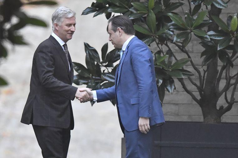 Bart De Wever was de tweede die vanmorgen op bezoek mocht bij koning Filip.