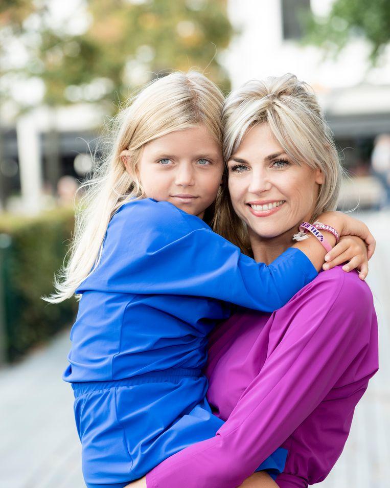 Tanja Dexters met haar dochter Valentina.