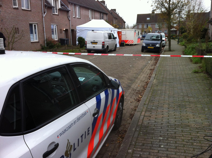 Politie-onderzoek in Esch vlak na de moord.