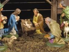 Dronken man Odiliapeel aan de haal met lammetjes en Mariabeeld uit kerststal