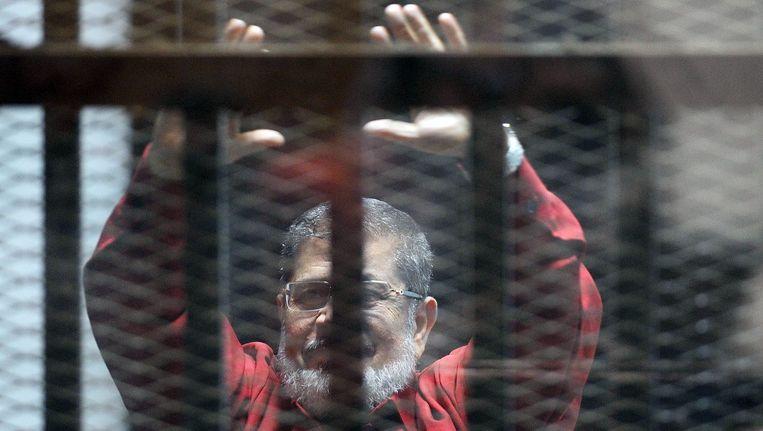 De Egyptische ex-president Mohammed Morsi. Beeld afp