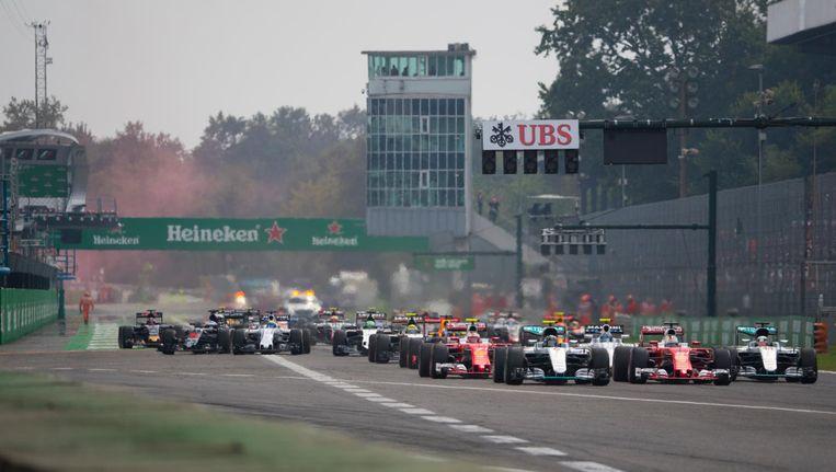 Start van de Heineken Grand Prix in Italië. Beeld anp