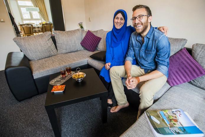 Widad en haar zoon Ahmad.
