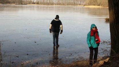 Schaatsen opnieuw overal verboden: ijs in Aalter is te dun geworden