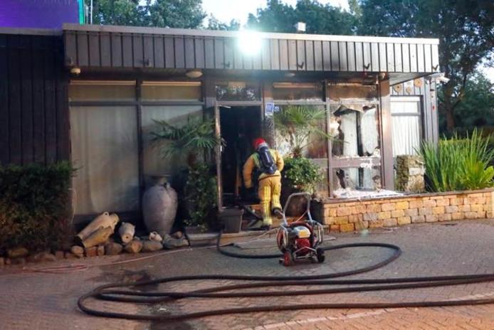 Brand bij  sauna Tibet in Eindhoven.