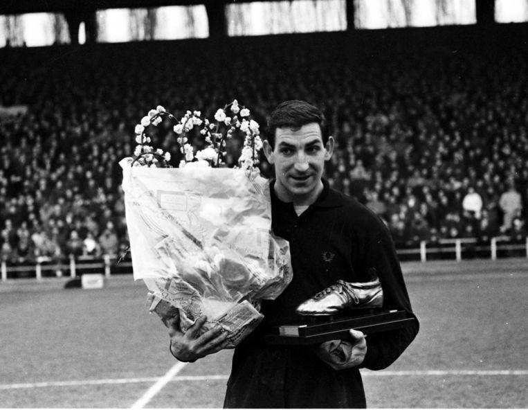 Jean Nicolay met zijn Gouden Schoen.