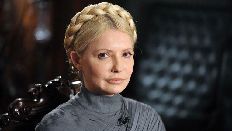 Voormalig premier van Oekraïne Joelia Timosjenko. Beeld AFP