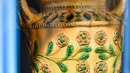 Vuurkorven in Torhouts aardewerk