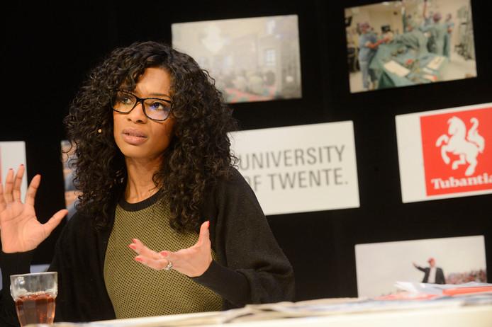 Sylvana Simons tijdens verkiezingsdebat