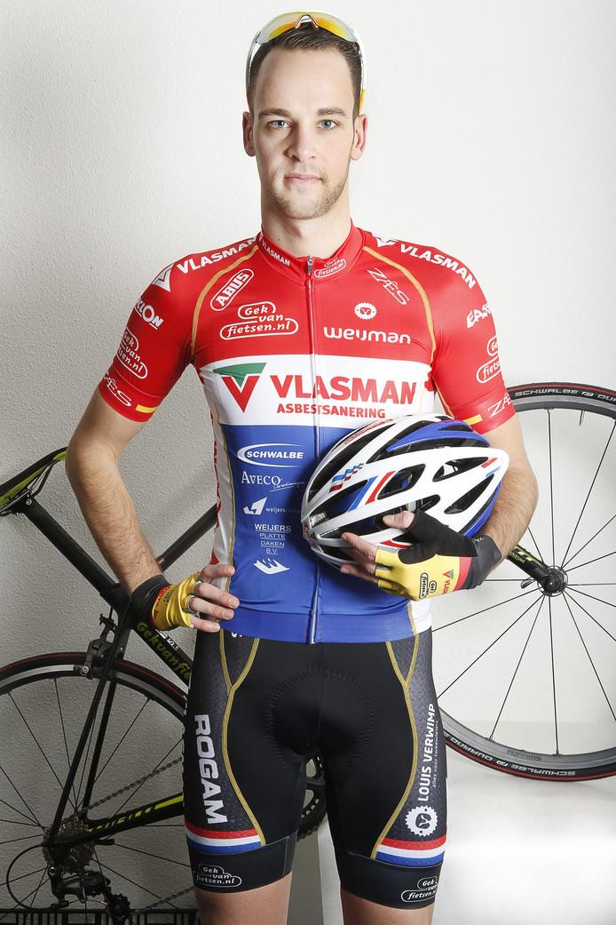 Melvin van Zijl greep net naast een medaille op het NK Derny.