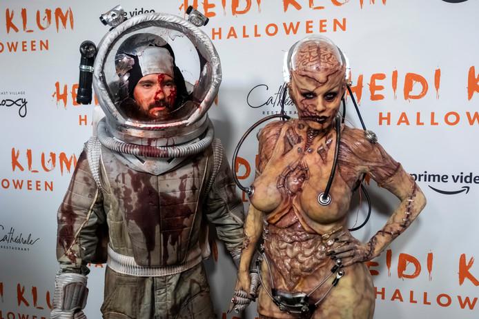 Tom Kaulitz en zijn vrouw Heidi Klum.