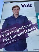 Verkiezingsposter Volt in de gemeente Eersel.
