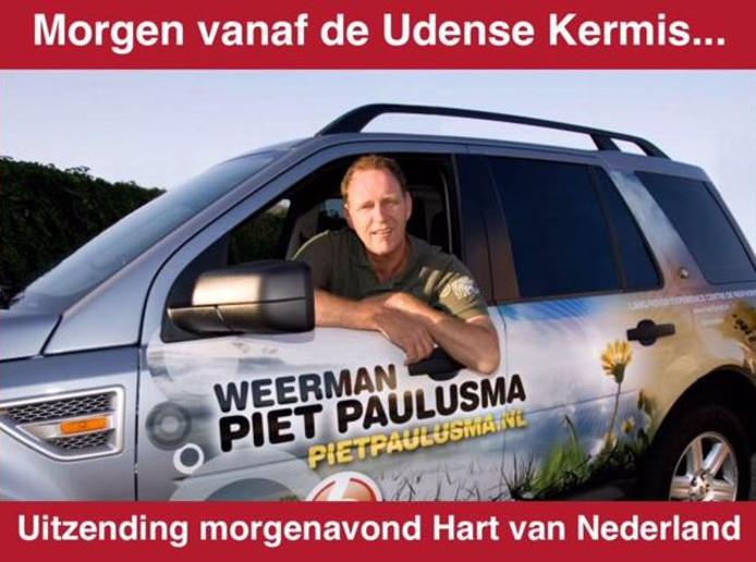 De kermis Uden heeft er vrijdag een eendaagse attractie bij: Piet Paulusma.