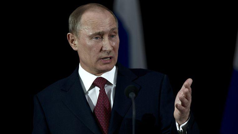 De Russische president Vladimir Poetin eist excuses van Nederland voor de behandeling van een Russische diplomaat door de politie in Nederland Beeld ANP