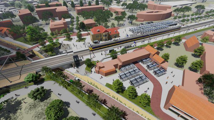De nieuwe spoorzone in Rijen Voordat de schop de grond in gaat is het 2024.