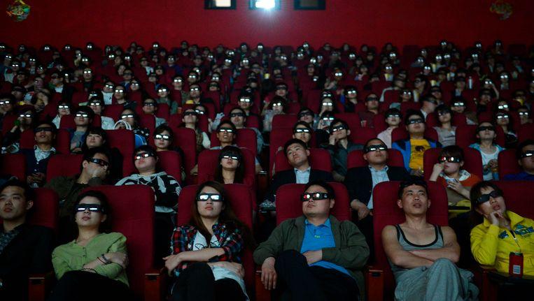 Bezoekers van de film Titanic 3D. Beeld REUTERS