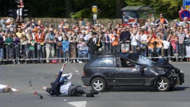 Een gruwelijk beeld van de aanslag op Koninginnedag.