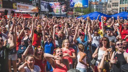 18.500 supporters volgden Rode Duivels op zeven grote schermen tijdens Gentse Feesten