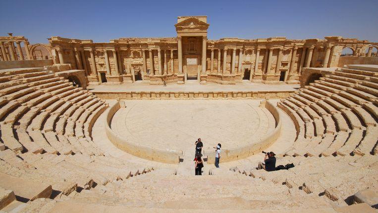 Het amfitheater in de ruïnestad Palmyra. Beeld reuters