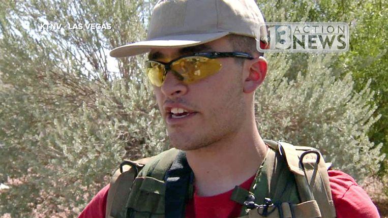 Conor Climo, een veiligheidsagent van 23 jaar, werd in 2016 gefilmd door de lokale zender KTNV toen hij patrouilleerde in zijn buurt.