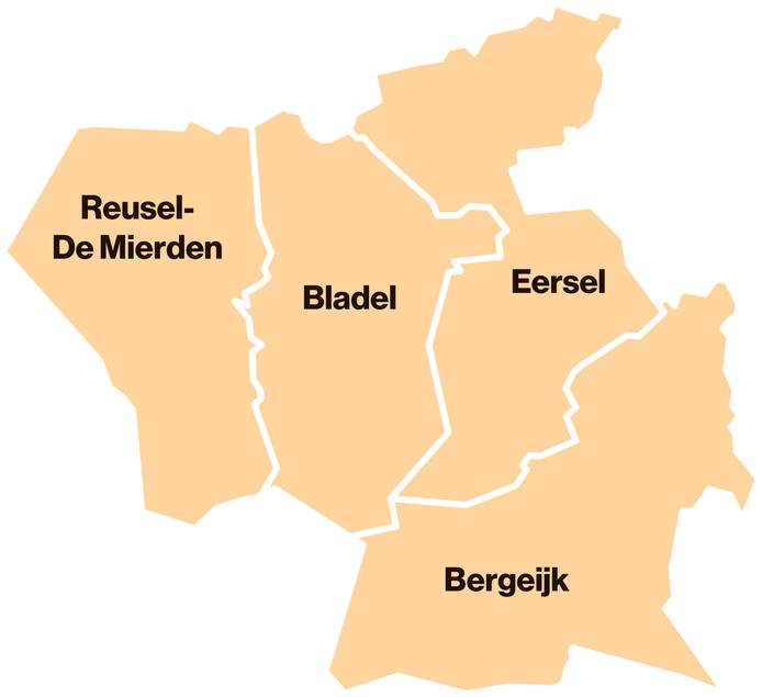 De vier Kempen-gemeenten.