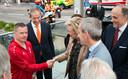 Woensdagavond verwelkomde hij prinses Astrid bij haar aankomst op de openingsceremonie in Sint-Niklaas.