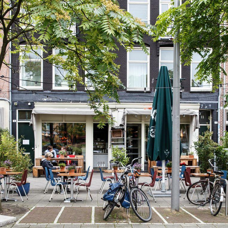 Hugo de Grootplein (buurt Westerpark) Beeld Carly Wollaert