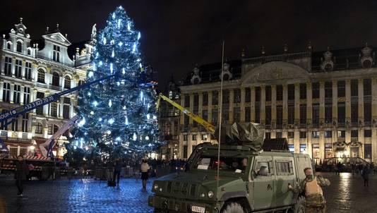 Brussel kampt al langere tijd met de dreiging van terreur. Op de Grote Markt stond vorige maand een jeep van het Belgische leger opgesteld vanwege risico's op aanslagen.