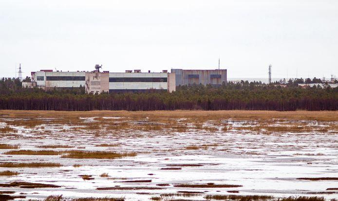 De militaire basis van Nyonoska in de regio Archangelsk in het noorden van Rusland..