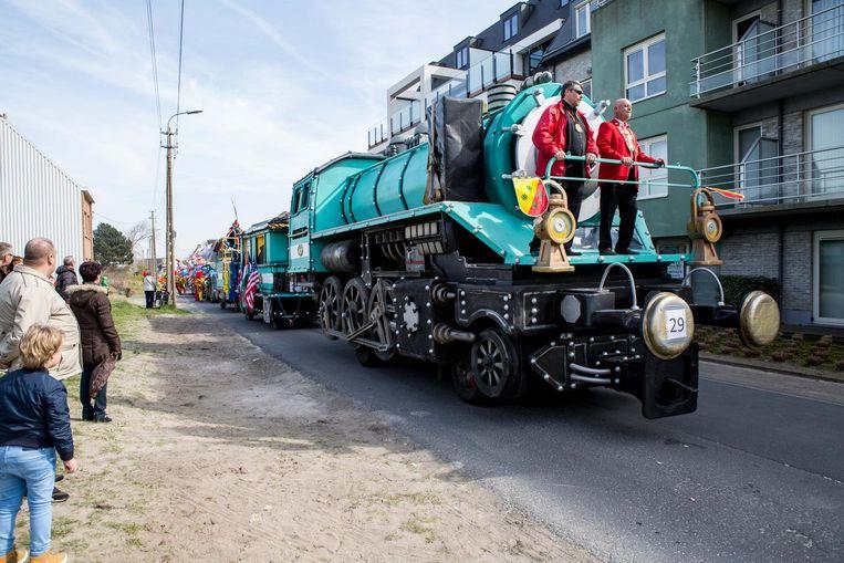 Een beeldje uit een vorige optocht: een opvallende praalwagen van KV De Slaapmutse