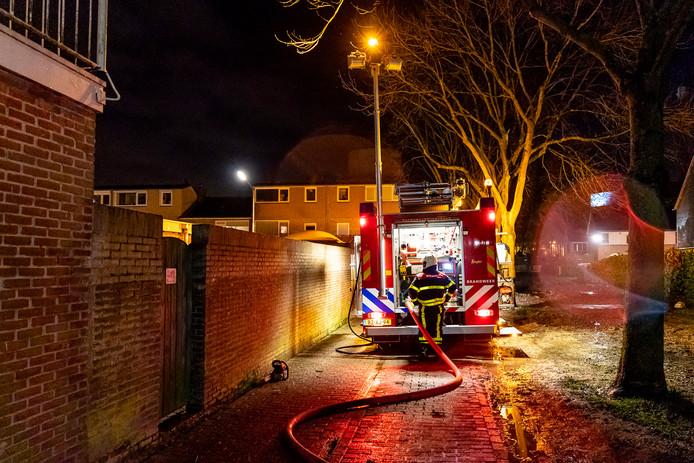 Brand in schuurtje aan Karel V Laan in Geertruidenberg