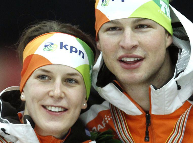 Ireen Wüst werd benaderd door Marianne Timmer, en rijdt nu in een ploeg met alleen vrouwen. Sven Kramer koos voor Jac Orie. Beeld anp