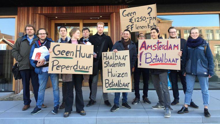 JS en ASVA demonstreerden woensdagochtend bij NorthOrleans Beeld Josien Wolthuizen