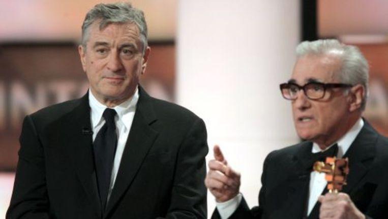 Martin Scorsese (r) en Robert De Niro in 2008. EPA Beeld