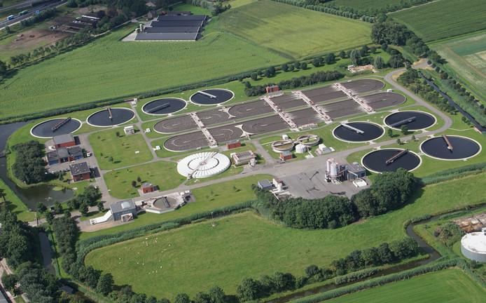 De rioolwaterzuiveringsinstallatie bij Heeswijk-Dinther.