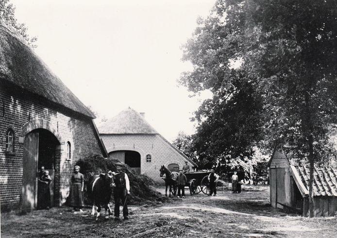 Een beeld van het boerenleven in de tijd van meester H. W. Heuvel.