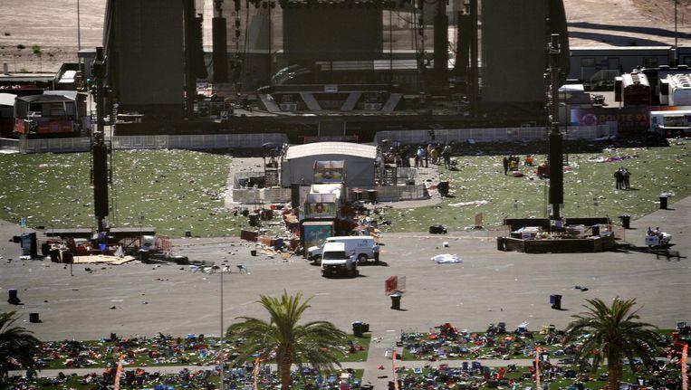 Het festivalterrein in Las Vegas Beeld ap