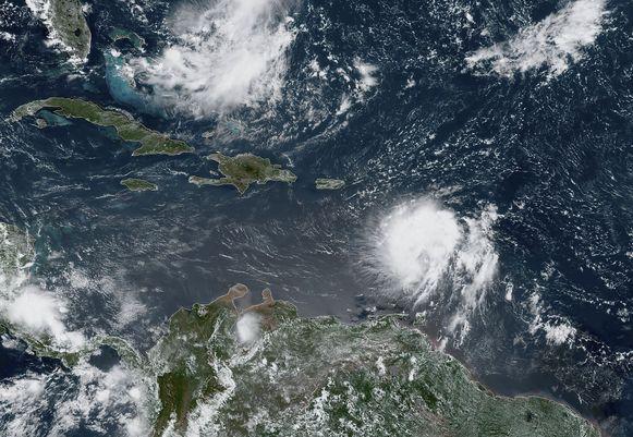 Tropische storm Dorian.