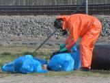 Dumping langs spoor Rijsbergen, vermoedelijk amfetamineafval