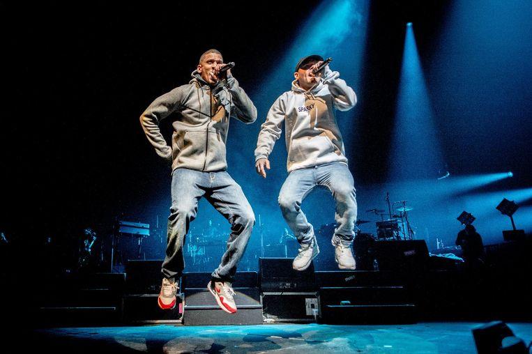 Het Zwolse duo Rico & Sticks van Opgezwolle. Beeld anp
