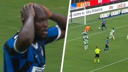 Titeldroom voorbij? Inter verliest, ondanks goal Lukaku, dure punten na dol slot en gigantische misser